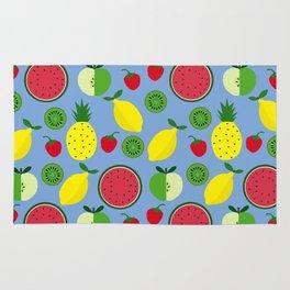 Fruits in blue Rug
