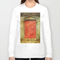doors Long Sleeve T-shirts featuring Red Doors by davehare