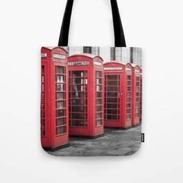 The Phone Boxes  Tote Bag