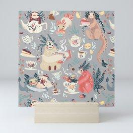 Tea Spirit pattern Mini Art Print