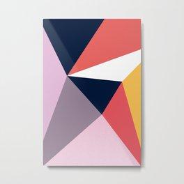 Modern Poetic Geometry Metal Print