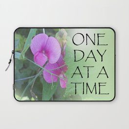 One Day at a Time Sweet Peas Laptop Sleeve