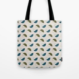 Abstract / Organic Surface Pattern (blue-green) Tote Bag