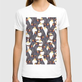 King Penguins Watercolour repeat Pattern T-shirt