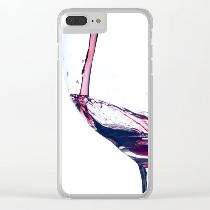 Red Wine Splash Clear iPhone Case
