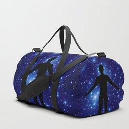 Man embracing the eternal Duffle Bag