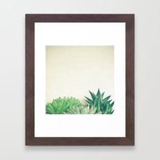 Succulent Forest Framed Art Print