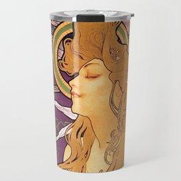 Alphonse Mucha's Job Cigarettes (Highest Resolution) Travel Mug