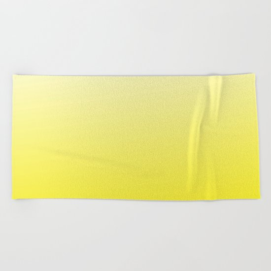 Simply sun yellow color gradient - Mix and Match with Simplicity of Life Beach Towel