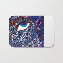 The Dream of Sahasrara (eyes only) Bath Mat