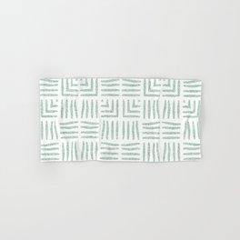 Velvety Tribal Weave in Green Hand & Bath Towel