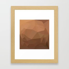 Burlywood Goldenrod Abstract Low Polygon Background Framed Art Print