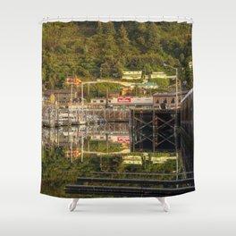Kodiak, Alaska St. Paul Harbor Shower Curtain