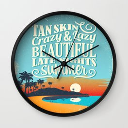 Crazy & lazy Summer Wall Clock