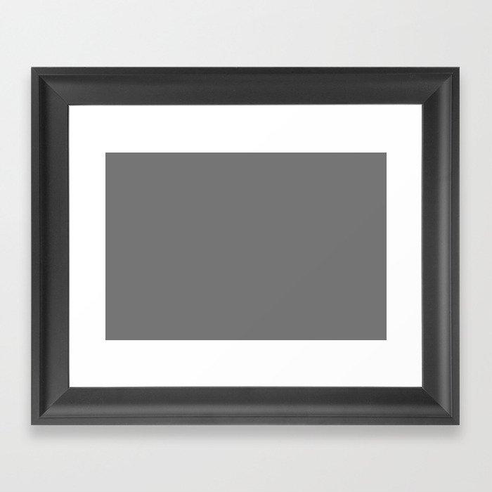 Behr Iron Mountain (Dark Gray) N520-5 Solid Color Gerahmter Kunstdruck