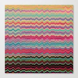Vintage distorted soundwaves pattern Canvas Print