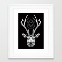 stag Framed Art Prints featuring Stag by Andy Christofi