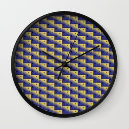 Kendall Snowflakes by Starlight Wall Clock