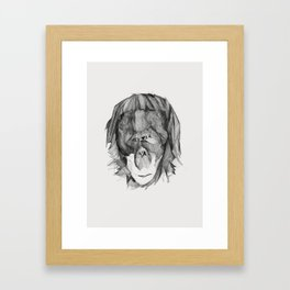 Seven Monkeys – Envy Framed Art Print