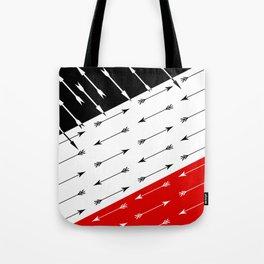 Red black , white pattern Boom 2 . Tote Bag