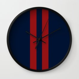 Navy Red Red Wall Clock
