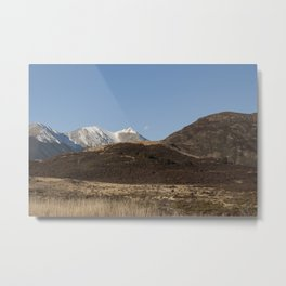 the moon and the mountains Metal Print