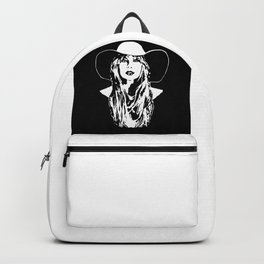 PORTRAIT OF A COUNTRY FEMALE SINGER,ACTRESS AND SUPERSTAR Backpack