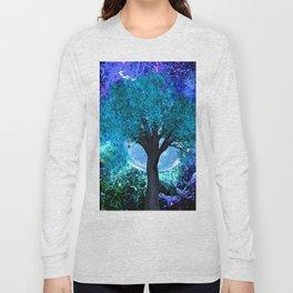TREE MOON NEBULA DREAM Long Sleeve T-shirt
