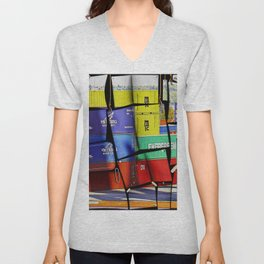 Colorful container wall board Unisex V-Neck