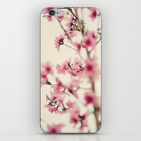 sakura iPhone & iPod Skins featuring Sakura by Laura Ruth