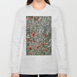 Cornflower and Poppyfield Long Sleeve T-shirt