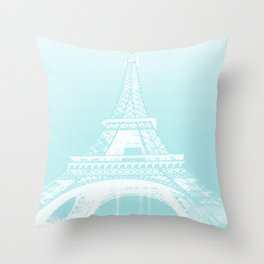 Eiffel tower by dots Throw Pillow
