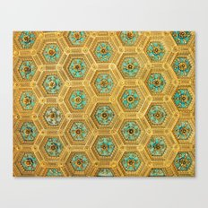 Gold Honeycomb Canvas Print