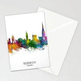 Norwich England Skyline Stationery Cards