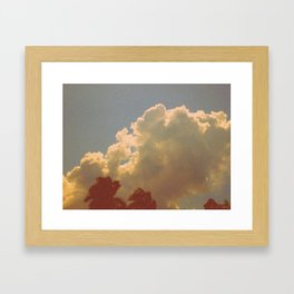 Palms & Clouds Framed Art Print