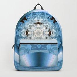 Art Deco Hub Cap in Blue Backpack