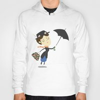 mary poppins Hoodies featuring Mary Poppins by Rod Perich