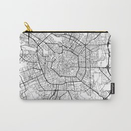Milan Map White Carry-All Pouch