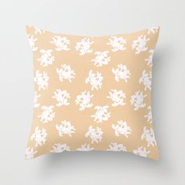Honeysuckle Bouquet in Georgia Peach Throw Pillow