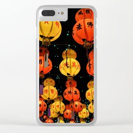 Chinese Lanterns Clear iPhone Case