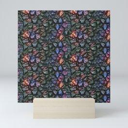 Black crystal gem wall Mini Art Print