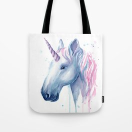 Blue Pink Unicorn Tote Bag