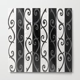 Burtonesque Stripes and Swirls.. Metal Print