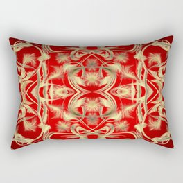 gold Digital pattern with circles and fractals artfully colored design for house and fashion unique Rectangular Pillow