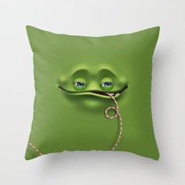 Joyful face Throw Pillow
