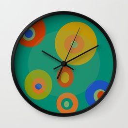 Colorul Geometric Circles Wall Clock