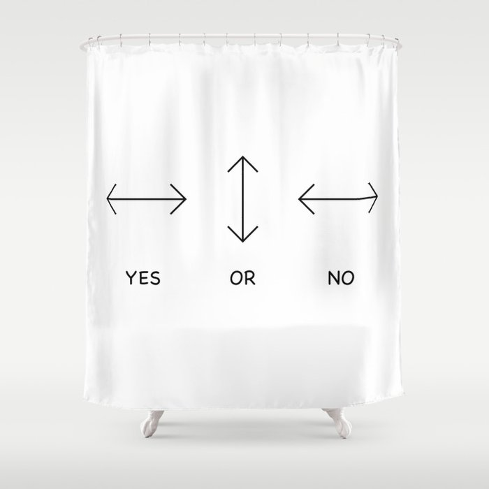 Yes or No Quetsions Shower Curtain