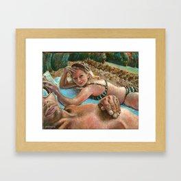 Nate and Lori, Big Island Framed Art Print