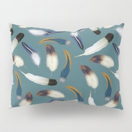 Pattern with feathers Pillow Sham