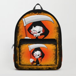 Grim Reaper Creepy Cartoon Character Backpack